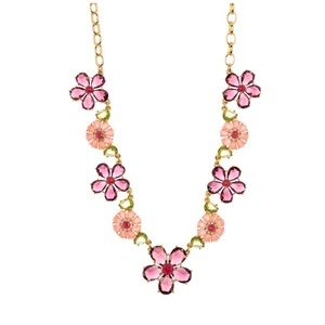 kate spade in full bloom crystal flower necklace